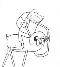 cartoon network adventure time coloring pages finn and jake