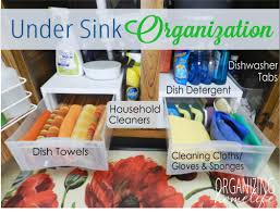 How To Clean Kitchen Sink by How To Organize Under Your Sink Organize Your Kitchen Frugally