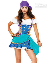 Womens Cheerleader Halloween Costume Cosplay Pirate Costumes Women Gypsy Halloween