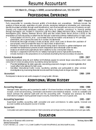 exles of best resume accountant resume exle sle