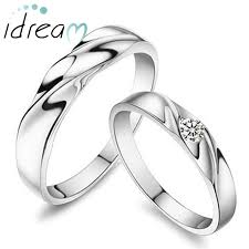 rings silver simple images Simple wave couple promise ring personalized sterling silver jpg
