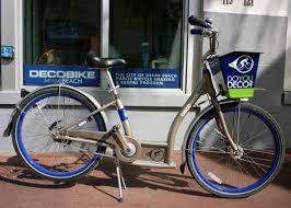 south beach in miami beach starts decobike bicycle rentals