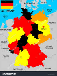 France Germany Map by Political Map Germany Neighbors Stock Illustration 67666060