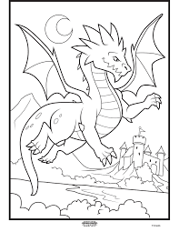 color alive mythical creatures dragon coloring page crayola com