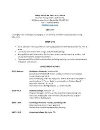 Continuing Education On Resume Nancy Sinclair Resume April 2015