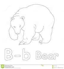 b for bear coloring page stock illustration image 39701652