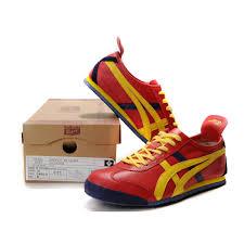2014 asics onitsuka tiger mexico 66 lauta mens shoes red yellow