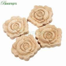 bowarepro floral wood carved decal corner flower wall door