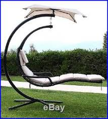 hanging chaise lounger chair porch deck patio swing hammock canopy