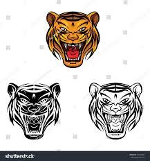 coloring book tiger face cartoon character stock vector 263472683