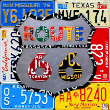 Usa License Plate Map by Custom Made License Plate Map Of The United States By Design