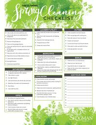 2017 spring cleaning checklist