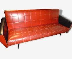 canap skai canapé lit 2 fauteuils skaï 1960 noir skaï vintage