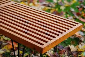 How To Make An Outside Bench How To Make A Diy George Nelson Inspired Outdoor Slat Bench