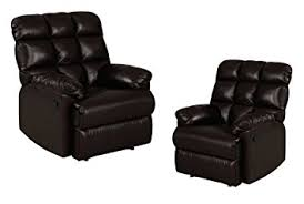 Comfort Recliners Amazon Com Leather Recliner Chairs Set Of 2 Large Comfort