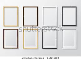 light wood picture frames set realistic light wood blank picture stock vector 342215033