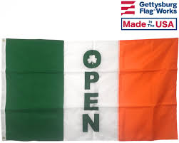 Irish Flag Gif Irish Open Flag Open Flags Business U0026 Promotional Flags