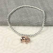 rose silver bracelet images Silver bracelet with rose gold elephant charm peace of mind jpg