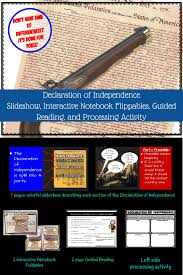 declaration of independence interactive notebook lesson social
