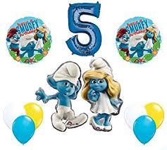 amazon com the smurfs birthday party supplies smurf and smurfette