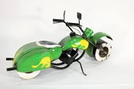 Recycled Garden Decor Recycled Metal Motorcycle Garden Decor