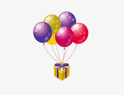 balloons gift balloon gift colored balloons gift png and psd file for