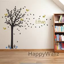 stickers chambre b b personnalis nom personnalisé arbre stickers muraux bébé pépinière arbre sticker