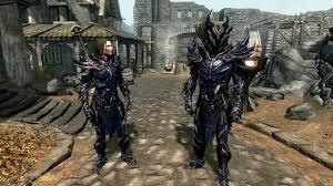 Skyrim Light Armor Mods Daedric Light Armor Daedric Blue At Skyrim Special Edition Nexus