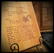 recipe engraved cutting board handwritten recipe on cutting board engraved cutting board