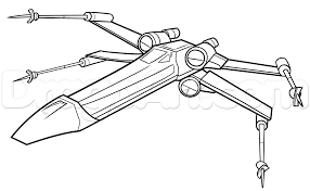 how to draw an x wing x wing starfighter step by step star wars