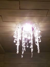 the happy homebodies tutorial diy faux crystal chandelier