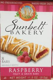 amazon com sunbelt bakery u0027s raspberry fruit u0026 grain bars 8 count