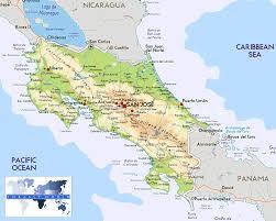 Cabo Map Costa Rica Physical Map U2022 Mapsof Net