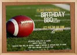 Flag Football Set For Adults Birthday Flag Football Invitation Man Boyfriend