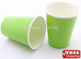 bicchieri di carta personalizzati 60 pz 9 oz verde pianura bicchieri di carta per bere latte bevanda
