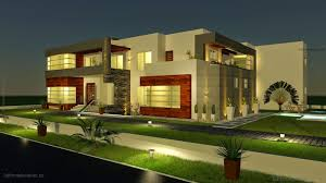 3d front elevation com 500 square meter modern contemporary house