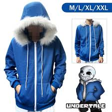 new undertale sans hoodie coat sweatshirt cap cosplay costume