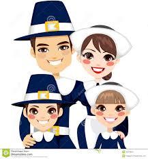 thanksgiving pilgrims clipart traditional thanksgiving pilgrim family stock vector image 45819623