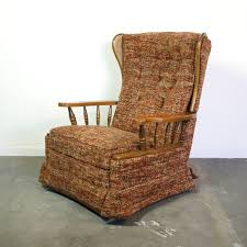 late vintage 1960s early 1970s la z boy recliner with a bit of an