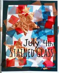Kids Stained Glass Craft - july 4th stained glass stained glass crafts glass craft and