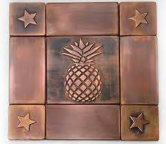 pineapple decor handmade tiles backsplash copper tiles