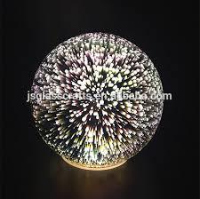 mercury glass ball lights 3d led fireworks light mercury glass ball 3d led light table