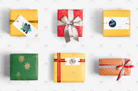 christmas present boxes christmas gift boxes isolate 03 original mockups
