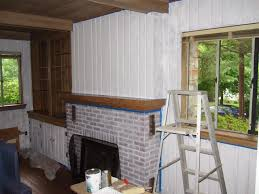 decoration amazing how to paint wood paneling with brick