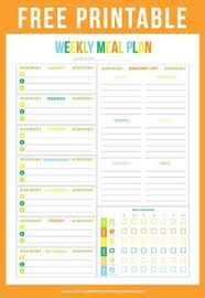 printable meal planner free printable meal planning templates to simplify your life meals