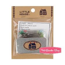 little house little house glass head pins with tin little house 1052 fat