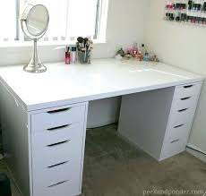 Bench Vanity Desk My New Ikea Makeup Vanity Diy Style White Vanity Table With