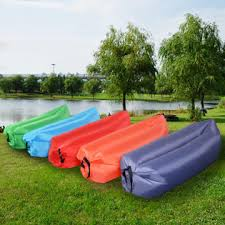 costway outdoor lazy inflatable couch air sleeping sofa lounger