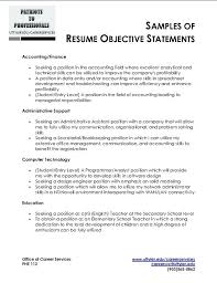 graduate career objective statement exles student objective for resume college student sle resume