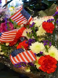 Red Flag White Flower Celebrate With Balsam Hill Memorial Day Cookout